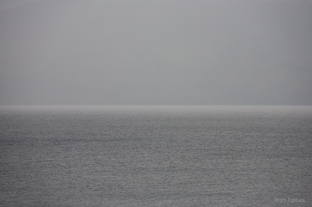 gray ocean against gray sky